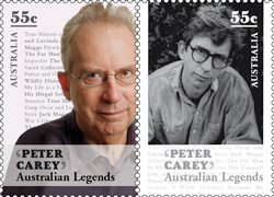 Peter Carey Australian Stamps